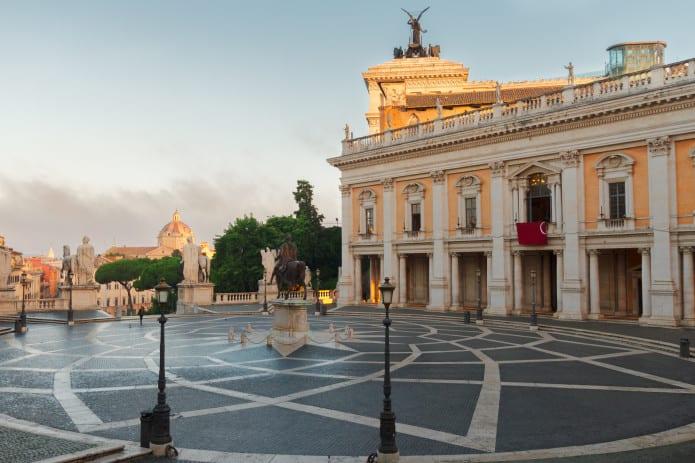 La splendida Piazza del Campidoglio a Roma