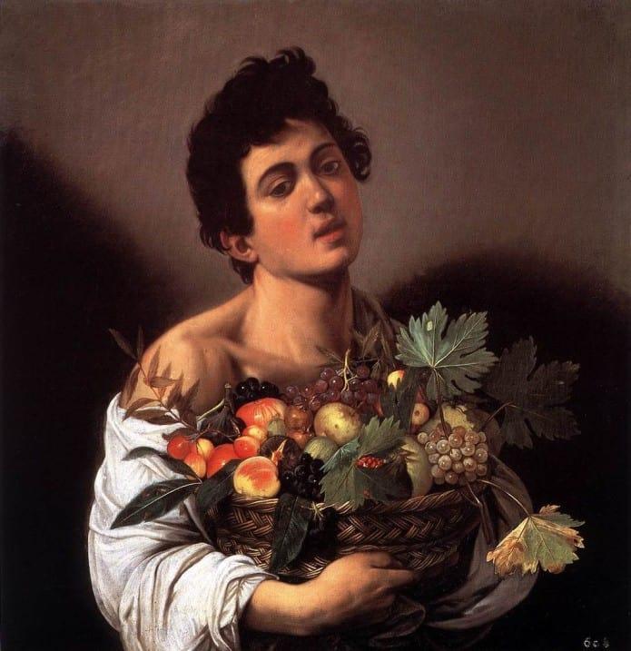 Ragazzo con cesto di frutta del Caravaggio conservato al Museo di Villa Borghese