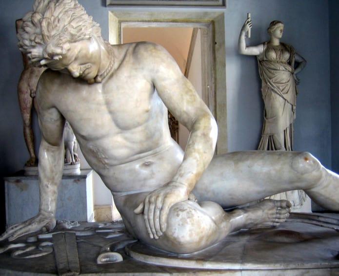 Il galata morente ai Musei Capitolini di Roma