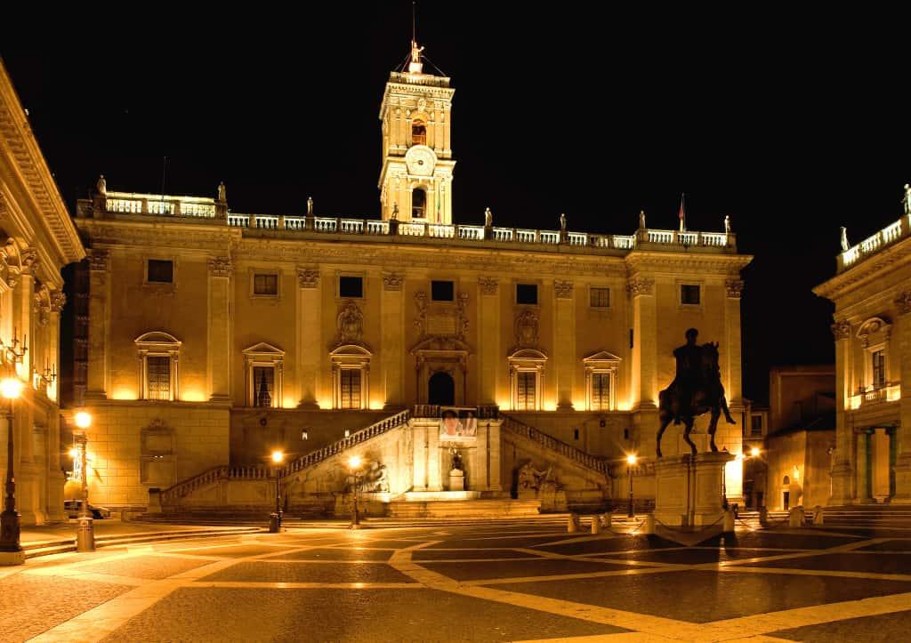 I Musei Capitolini in piazza del Campidoglio a Roma