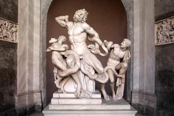 Laocoonte. Museo Pio Clementino ai Musei Vaticani.
