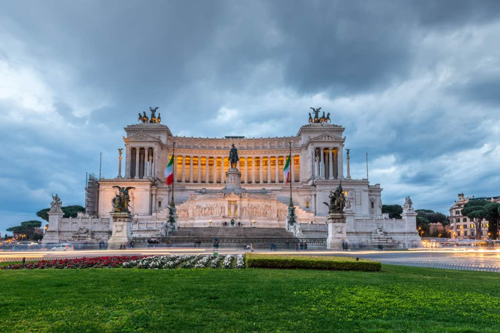 Il Vittoriano, uno dei monumenti principali di Roma