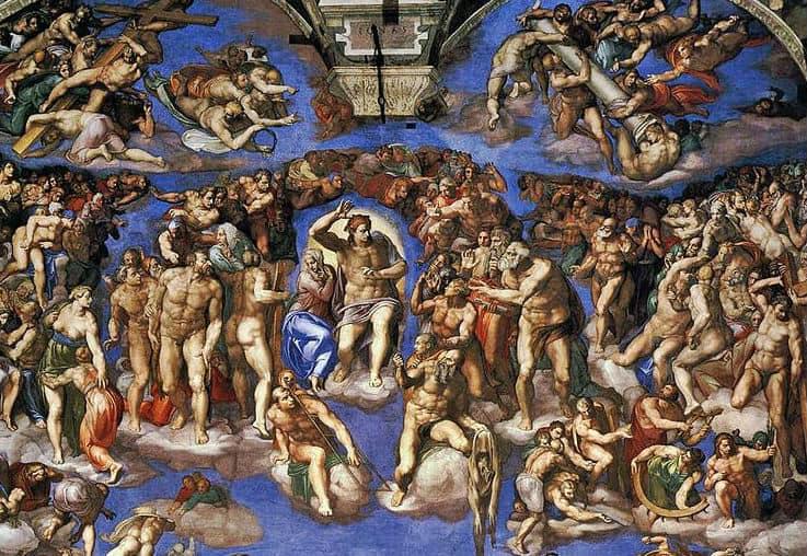 Cappella Sistina a Roma. Il giudizio universale