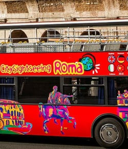 Bus panoramici Hop on Hop off:  tour con City Sightseeing Roma