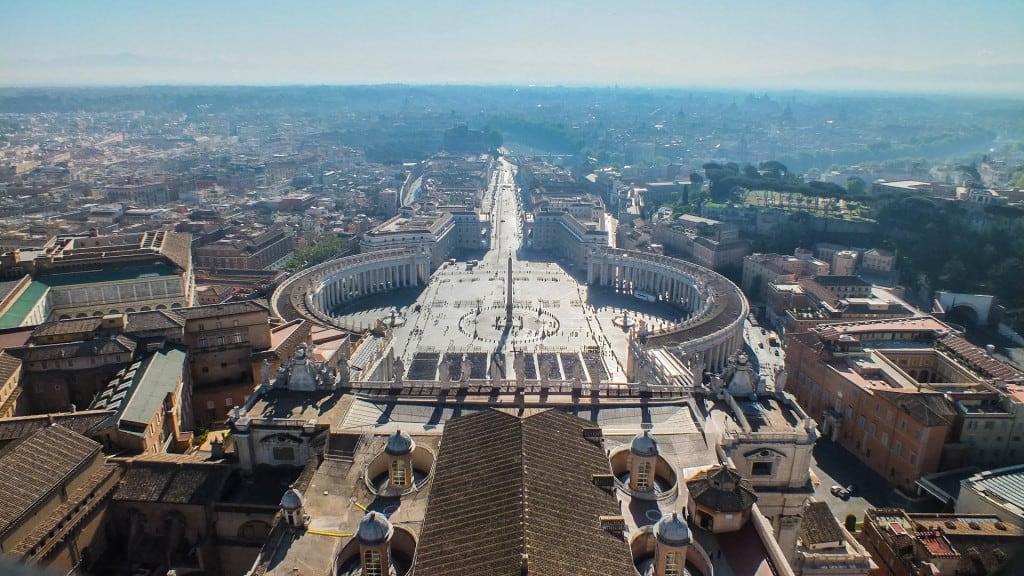 Città del Vaticano vista dalla Cupola di San Pietro