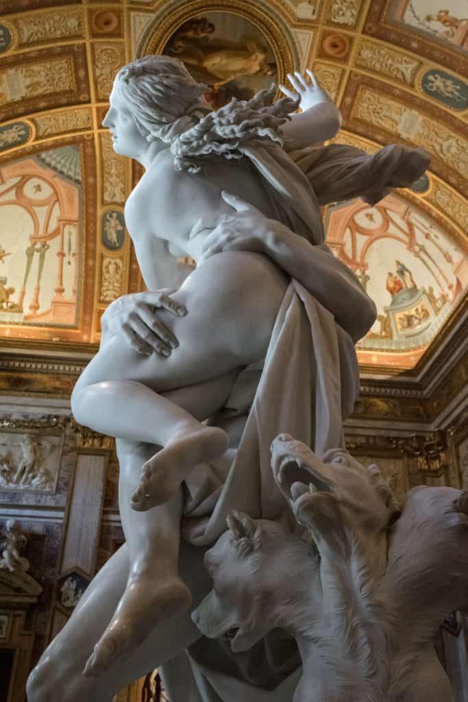 Visitare Galleria Borghese a Roma: il ratto di Proserpina